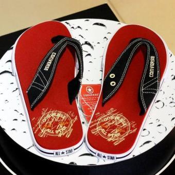 Dép thời trang Converse 1NHS900 (Đỏ quai đen)