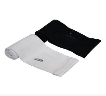 Bộ 2 đôi găng tay chống nắng xỏ ngón Aqua-X Let's Slim (Đen - Trắng)