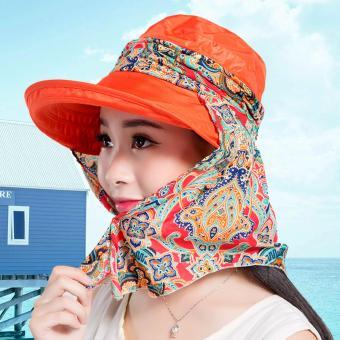 Mũ kèm khẩu trang chống tia UV Chipxinhxk (Cam)