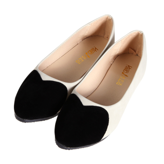 Women Casual Flat Shoe Ballet Slip Loafers Single Shoes Black - Intl - intl