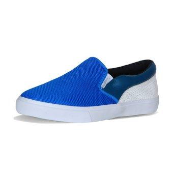 Giày Lười Slip-on QuickFree Lightly da bò Suede Nam M160102-111 (Xanh/Trắng/Rêu)