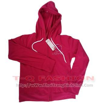 Áo khoác nữ chống nắng (có mũ) - màu đỏ