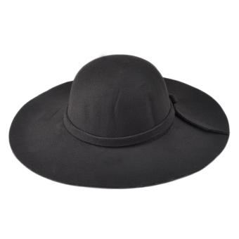 Moonar Women Vintage Big Brim Sun Shade Hat Cap Black