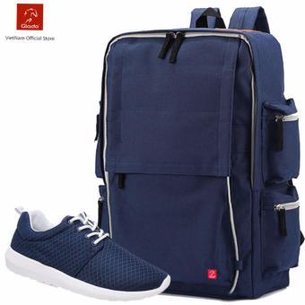 Combo Balo Thời Trang Glado BLG056BU + Giày Sneaker GS076BU (xanh) - CB016