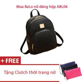 Mua Balo Dáng Hộp + Tặng Clutch Thời Trang