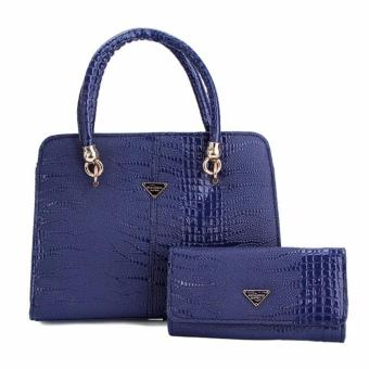 Bộ set túi và ví cầm tay QQ02(XANH)