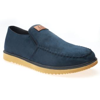 Giày Lười Nam Vải Nhung Hnp Gn015 (Xanh đen)
