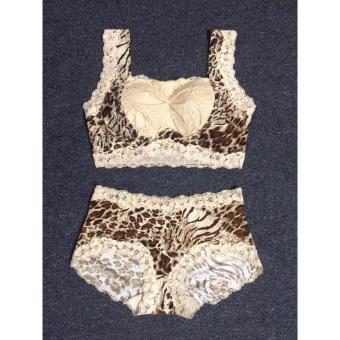 Bộ quần + áo lót nữ cao cấp-Trắng 8821 (free size)