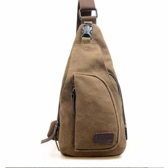 Túi đeo một bên vai nam chất liệu vải cao cấp (Nâu)