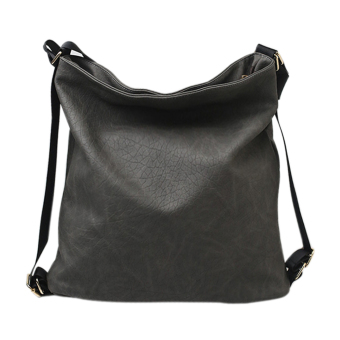 Woman PU Leather Leisure Backpack (Gray) - Intl