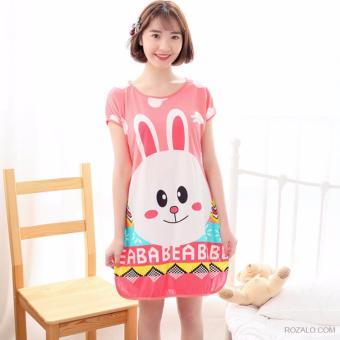 Váy ngủ hoạt hình ngộ nghĩnh ROZALO RWV62201TH-Thỏ Hồng
