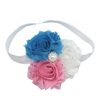 Fancyqube Three Floral Hair Band with Diamond Paragraph 03