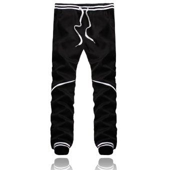 PODOM Men's Harem Casual Baggy Hip Hop Dance Jogger Sweatpants Trousers Slacks Black - Intl