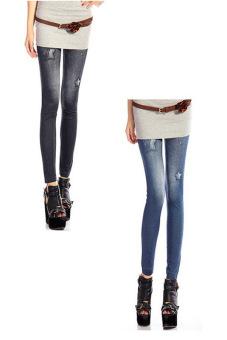 Bộ 2 quần legging Huy Kiệt HK90 (Đen và Xanh Đen)