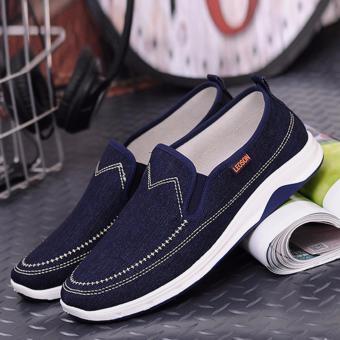 Giày vải Denim nam Sportmax SM5414LEOXD - Màu xanh đậm