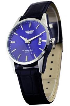 Đồng hồ nam dây da SWIDU 001 (Xanh)