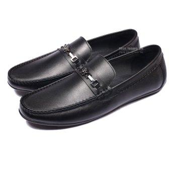 Giày Lười Da Thật Có Đai Kim Loại (GL87)
