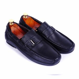 Giày lười nam da thật cao cấp Da Giày Việt Nam - VNLB017VCT4D-1 (Đen)