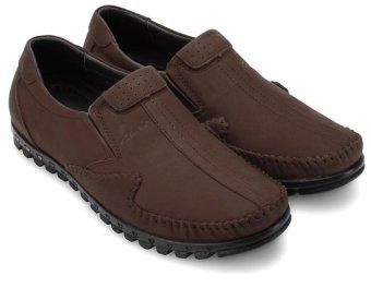 Giày lười nam da bò thật MBMO21 (Nâu)