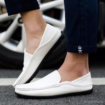 Giày lười nam ROZALO RNG8803W (Trắng)