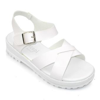 Giày xăng đan nữ Om Fashion 1199 (Trắng)