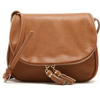Tassel Women Bag Leather Handbags Cross Body Shoulder Bags Fashion Messenger Bag Women Handbag (Brown) - intl
