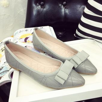 Giày búp bê thiết kế đơn giản cho bạn gái thêm tinh tế-145 (Xám)
