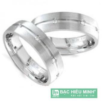 Nhẫn đôi Bạc Hiểu Minh nc041 đoạn đường tình yêu