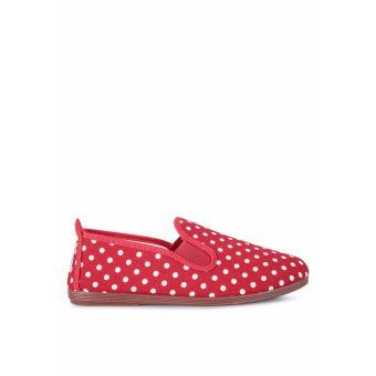 Giày Lười Flossy Calella (Đỏ chấm bi)