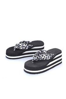 80621-1 Women Fashion Platform Flip Flop(Black Leopard) - Intl - intl