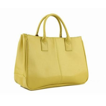 Fashion Elegant Korean shoulder bag Leather Women Lady Tote Handbag Green - Intl