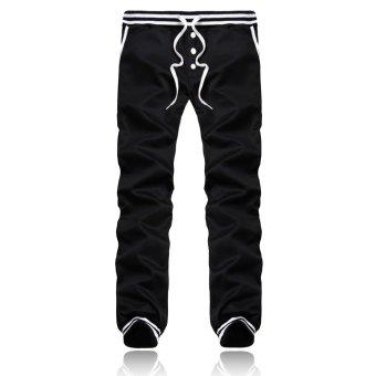 PODOM Men Harem Casual Baggy HipHop Dance Jogger Gym Sweat Pants Trousers Slacks Black - Intl