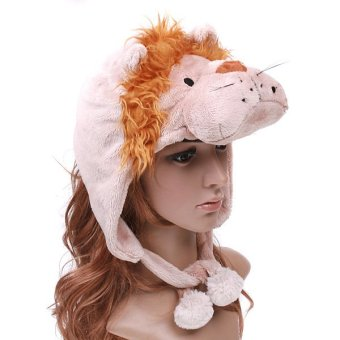 Cartoon Lion Super Soft Short Fuzzy Hat Cap. - intl