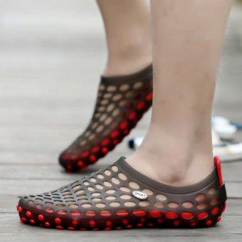 Fashion Casual Men Sandals Summer Beach Shoes Slippers (Black) - intl