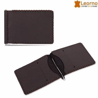 Ví da kẹp tiền handmade Leorno VD28 (Đen)