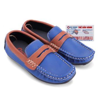 HL7809 - Giày KIDS mọi nam Huy Hoàng màu xanh phối nâu đỏ