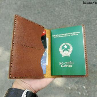 Ví passport handmade da thật cao cấp (Nâu)