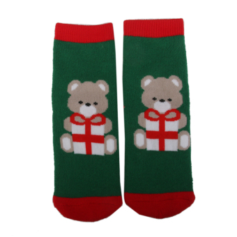 Kids Christmas Socks Novelty Socks Boys Girls Xmas Gift Bear Print 4-6Y - Intl