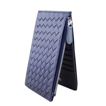 Women Thin Hand-Woven Multi-Card Bit Wallet Purse Card Package Wallet - intl