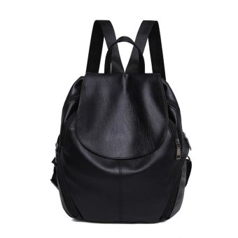 Summer New College Wind Schoolbag Backpack Woman Leisure Travel Bag Backpacks Black - intl