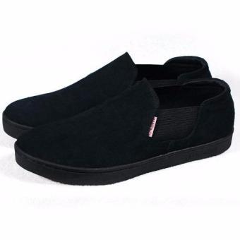 Giày slip-on phối thun Tathanium Footwear TFBKS3307 (Đen)
