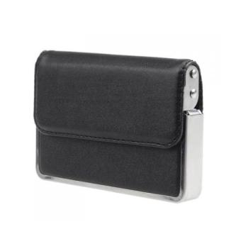 Leather Business Credit Name ID Card Holder Case Side Open - Intl