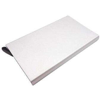 Moonar Unisex Card Case Business Aluminum Credit Card Protector RFID Card Holder (Silver) - intl
