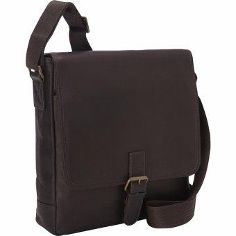 Túi đeo chéo vai nam da Columbia eBags Colombian Leather BuckleTablet Bag (Mỹ) (Nâu đậm)