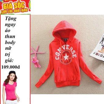 Áo khoác nữ ALLSTAR (Đỏ) + Tặng 1 áo thun body nữ
