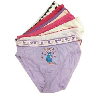 Bộ 7 quần lót - quần chíp bé gái cotton Thái Lan-MS02