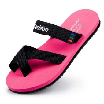 Men Women Thong Flat Flip Flop Summer Sandals Size 35-44 (Pink) - intl