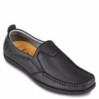 Giày mọi nam da bò SunPoLo LS3026DRN (Đen)