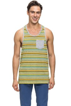 Bellfield Men's Racerback Printed Vest Green