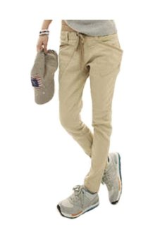 Skinny Pencil Stretchable Pants Light Khaki